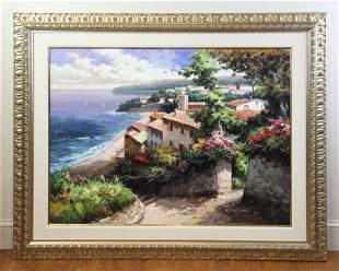 DS Kim, Amalfi Coast, Oil on Canvas