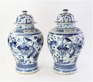 19thC Chinese Porcelain Covered Jars