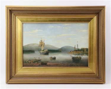 Brian Coole, Southwest Harbor, Oil on Board