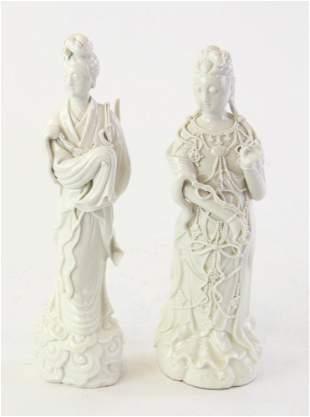 Chinese Blanc-de-Chine Guanyin Figures