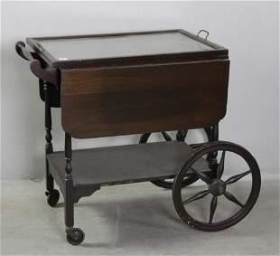 Old Mahogany Tea Cart