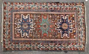 19thC Kuba Caucasian Rug