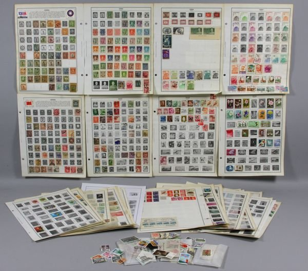 5014: Fifty-two (52) album pages of stamps from China a