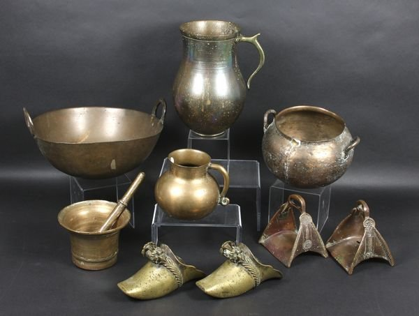5020: Group of seven Spanish Colonial copper and brass
