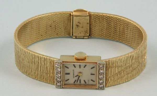 5021: 14k yellow gold Tiffany and Co. watch