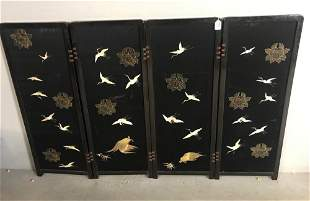 Set Of Chinese Silk Embroidered Panels