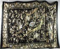 Large Birds Rare Chinese Silk Embroidered Panel