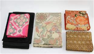 Group of Japanese Tea Table Covers
