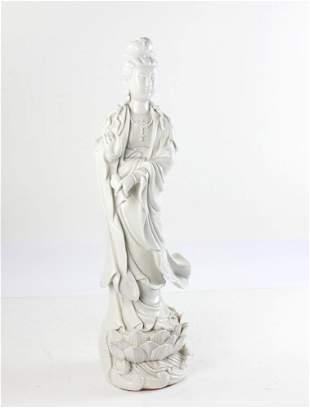 Chinese Blanc-de-Chine Guanyin Figure