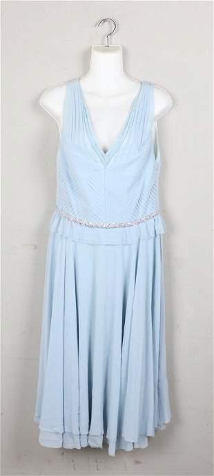 Luca Luca Beaded Silk Evening Dress