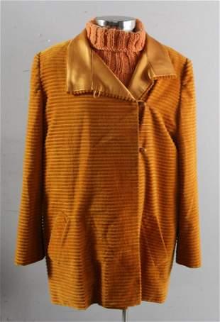 Burnt Orange Jacket and Sweater