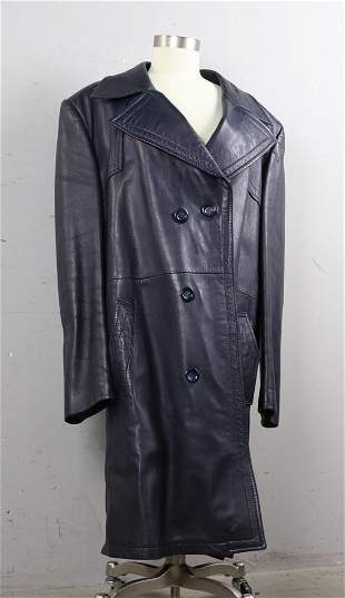 Black Leather Coat, Made in Spain