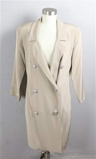 Ladies Coatdress with Rhinestone Buttons