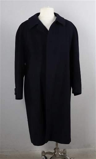 Ladies Burberry Navy Wool Coat
