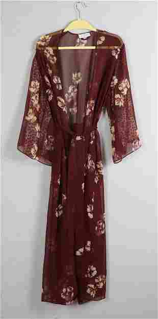 Valentino Sheer Kimono Style Robe