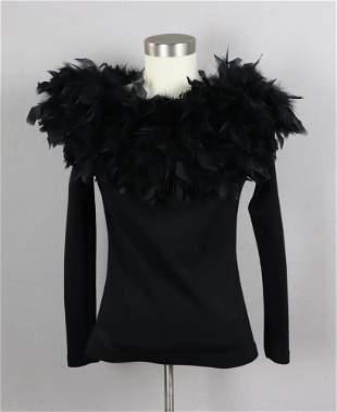 Ladies Black Evening Sweater Top