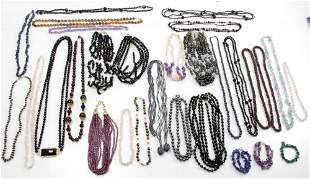 Semi Precious Bead Bracelets and Necklaces