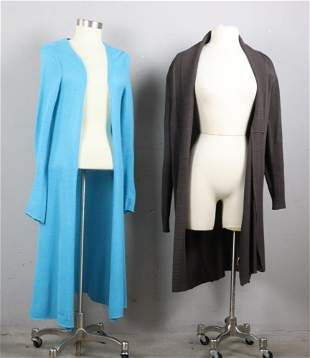 Two Ladies Long Sweaters, one by Calypso