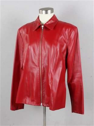 Italian Red Leather Jacket