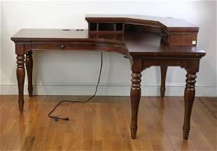 Contemporary Mahogany Office Desk