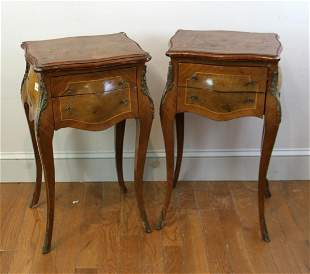 Pair of French Style Two Drawer Stands