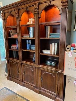Chippendale Style Walnut Bookcase