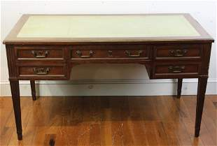 English Regency Style Leather Top Writing Desk