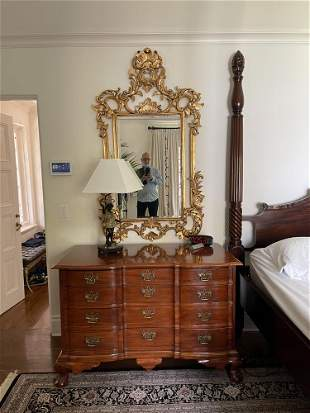 Pair of Continental Style Giltwood Mirrors