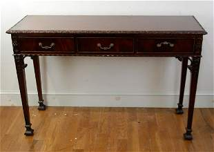 Chippendale Style Mahogany Hall Table