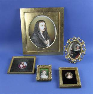 Collection of Painted Porcelain Plaques
