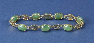 Gold and Jade Bracelet
