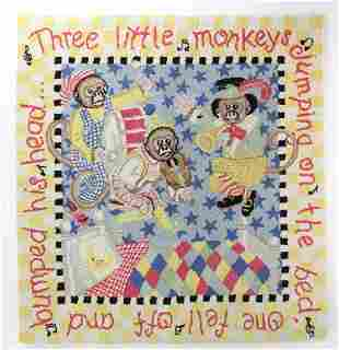 Monkey Hooked Rug