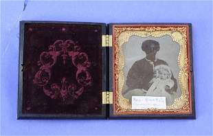 Ambrotype of African American Woman with Child