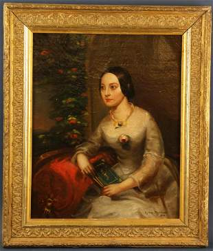 Signed Sydney Muschamp, Seated Lady