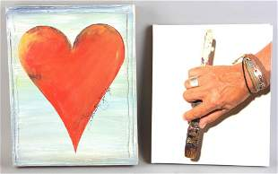 Salvatore Principe Oil on Canvas, Heart