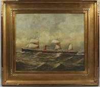 7297 D Aldro portrait of steam sailing ship OC 20