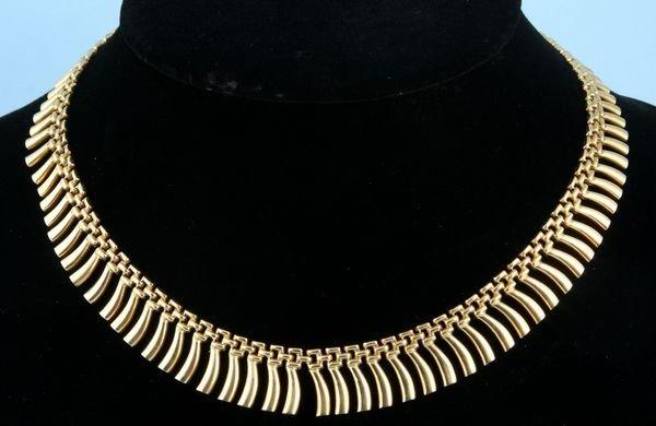 "8001: 18k gold necklace, 18"" l."