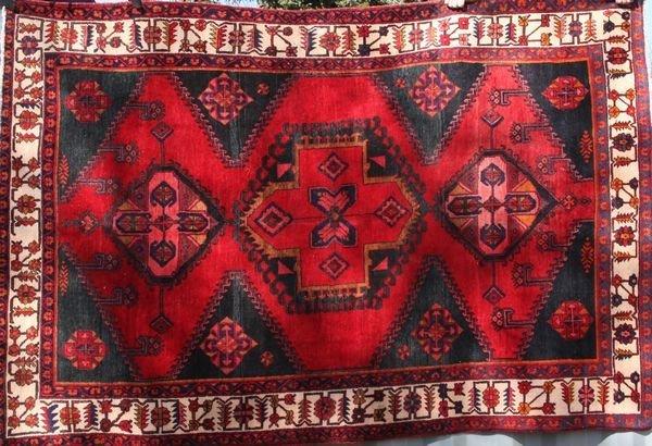 8008: Semi-antique Persian Hamadan rug