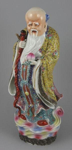 8168: Chinese porcelain sculpture of an elderly man, 14