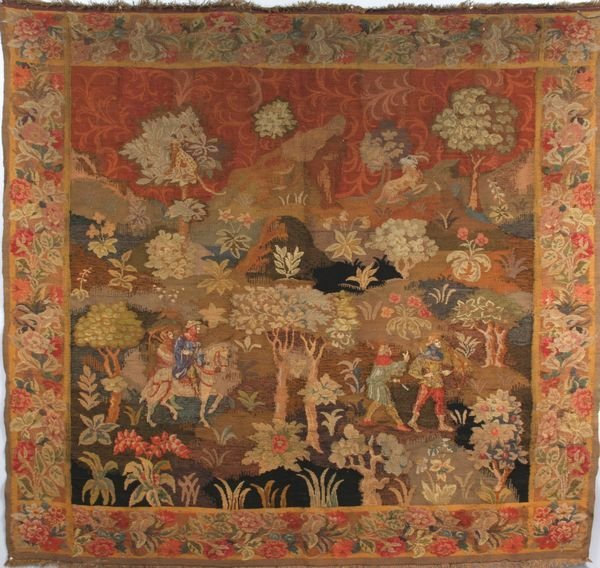 8197: 19th C. French continental tapestry