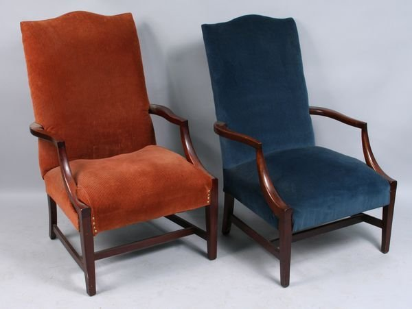 7: Two George & Martha Washington lolling chairs