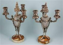 253 19th C silverplated Pairpoint candlesticks