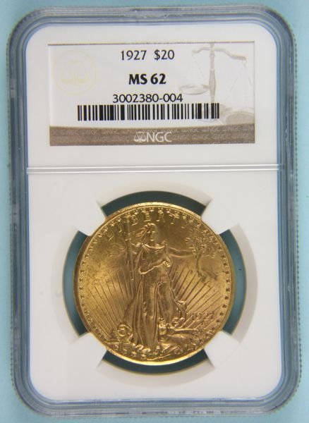 379: 1927 US $20 gold piece