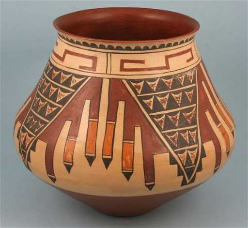 986fb610cf 1206  Signed  Tom Dickerson  Navajo pottery vase