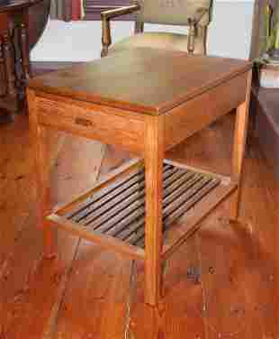 Signed Stickley Cherry Single Drawer Table
