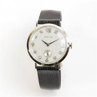Hamilton Wristwatch Gold with Diamonds