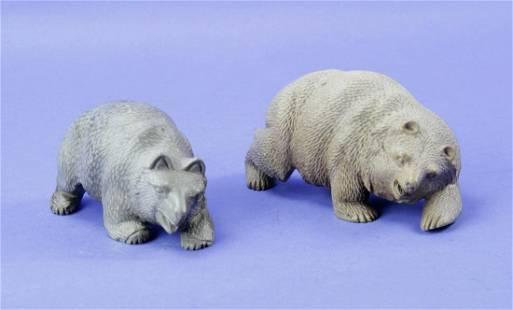 Inuit Crouching Bears Sculpture