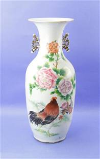 19thC Chinese Vase, Rooster Design