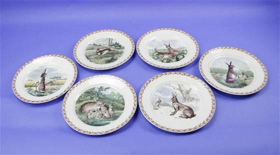 German Standing Rabbit Plates
