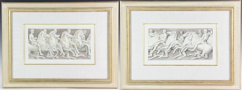 Pair Roman Style Prints Custom Frames